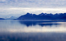 Ocean, Mountain, Sky. Layers Alaska Royalty Free Stock Photo