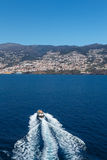 Ocean and mountains. Funchal, Madeira island, Portugal royalty free stock image