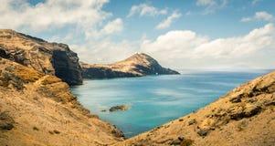 Ocean with mountains Stock Photo