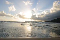 ocean nad pokojowym niebem. Fotografia Royalty Free