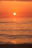 ocean nad wschód słońca Fotografia Stock