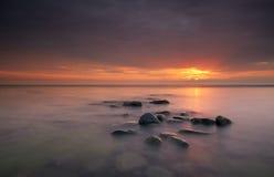 ocean nad wschód słońca Obrazy Stock