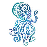 Ocean ośmiornica wzór etniczne Zdjęcia Stock