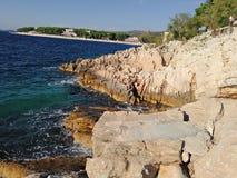 Ocean od Coratia zdjęcia stock