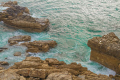 Ocean off the coast of Portugal. 2014 royalty free stock photo