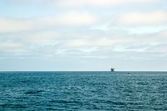 Ocean Oil Rig Royalty Free Stock Images
