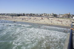 The Ocean. Is one of the most enjoyable of entertainment during summertime od the season Stock Photos