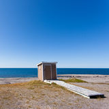 Ocean Outhouse Port au Choix Newfoundland Canada Royalty Free Stock Image