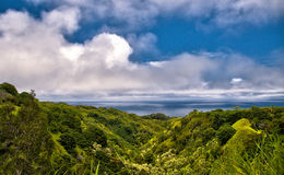 Ocean overlook on the Road to hana on the island of Maui Stock Image