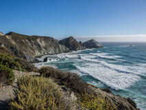 The ocean in pacific coastline, Big Sur on Highway 1. CA, USA Royalty Free Stock Images