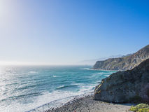 The ocean in pacific coastline, Big Sur on Highway 1 Stock Photos