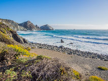 The ocean in pacific coastline, Big Sur on Highway 1 Royalty Free Stock Images