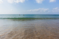 Ocean Paddle Boarders Beach Royalty Free Stock Photos