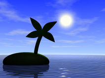 Ocean and palm tree Stock Image