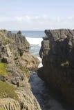 Ocean and Pancake rocks stock images