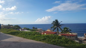 Ocean paradise view. View of the ocean from a cool tropical Puerto Rican neighboorhood Stock Photography