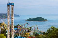 Ocean park, amusement theme park in Hong Kong royalty free stock photo