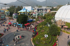 Ocean Park Hong Kong. Hign angle view of Ocean Park Hong Kong. It is one of the two large theme parks in Hong Kong. It is a marine mammal park, oceanarium Stock Images