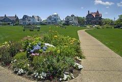 Ocean Park, Martha's Vineyard. Ocean park near Oak Bluffs Beach on Martha's Vineyard, Cape Cod Massachusetts Stock Image