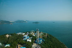 Ocean Park and overlooking the South China Sea on Ocean Park Ocean Park Tower Stock Photos