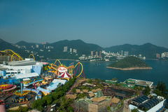 Ocean Park and overlooking the South China Sea on Ocean Park Ocean Park Tower Stock Images