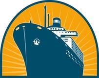 Ocean passenger liner boat ship at sea Royalty Free Stock Photo