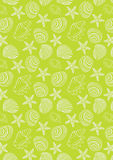 Ocean pattern in neon green background Stock Photography
