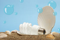 Ocean Pearl Lightbulb Royalty Free Stock Photos