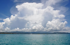 Ocean and perfect sky. Island boracay. Philippines Royalty Free Stock Images