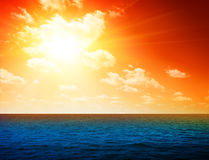 Ocean and perfect sky Stock Image