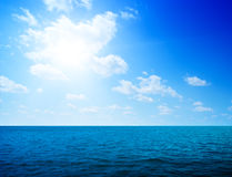 Ocean and perfect sky Royalty Free Stock Image