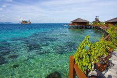 ocean piękna środkowa sceneria Zdjęcie Stock