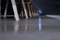 Ocean pier. Atlantic ocean pier on a summer night Stock Image