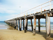 Ocean pier. On a bright sunny day Royalty Free Stock Photos