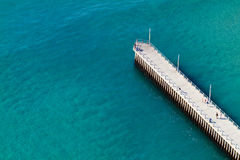 Ocean and pier Royalty Free Stock Image