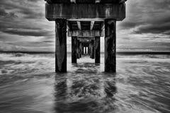 Ocean Pier On Beach II Stock Photography