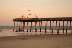 Ocean Pier. In Cape May, NJ Royalty Free Stock Photography