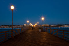 Ocean Pier at dusk Stock Photos