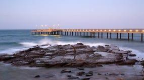 Ocean Pier at Night Stock Photo