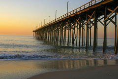 Ocean Pier at Sunset Royalty Free Stock Photography