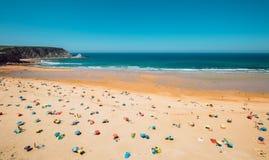Ocean plaża w Asturia, Północny Hiszpania Zdjęcia Stock