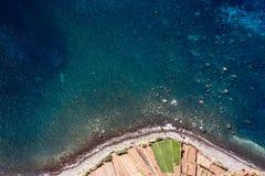 Ocean plaża na madery wyspie, Atlantyk, Portugalia Fotografia Stock