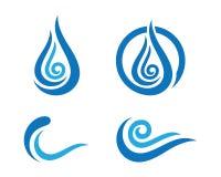 Ocean plaży fala logo Zdjęcie Stock