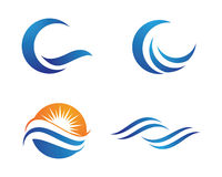 Ocean plaży fala logo Zdjęcia Royalty Free