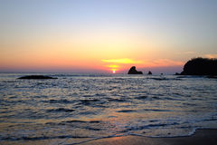 Ocean plaży wody zatoka San Juan Del Sura Nikaragua Obrazy Royalty Free