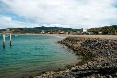 Ocean plaży wody zatoka San Juan Del Sura Nikaragua Zdjęcie Royalty Free