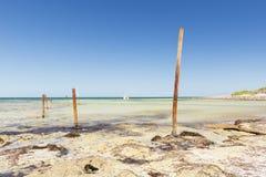 Ocean Poles Stock Photography