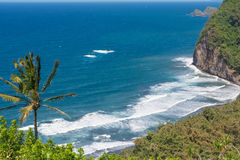 The ocean at Pololu Valley, Hawaii Royalty Free Stock Photo