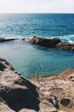 Ocean pool on the California Coast stock photos