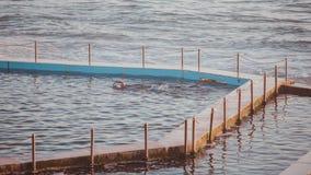 Ocean pool. A woman swimming an lap in an ocean pool Stock Image